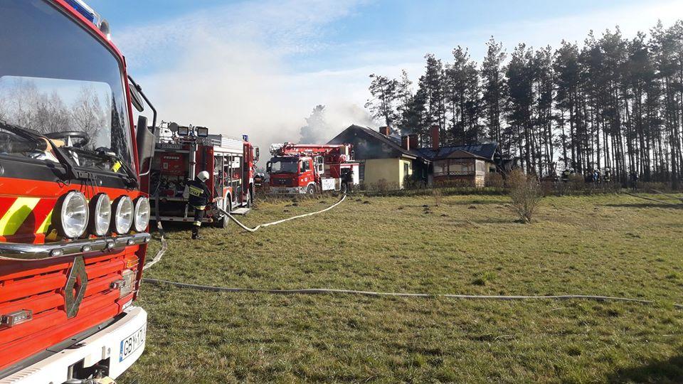 Pożar budynku mieszkalnego w Kłosach