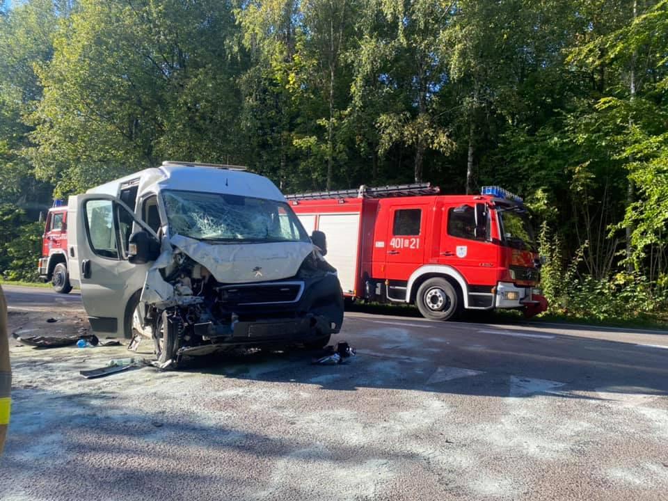 Wypadek autobusu na trasie Rokity - Rokiciny