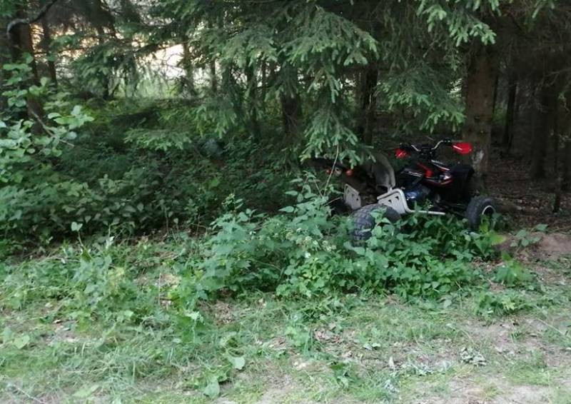 Wypadek quada w Podkomorzycach