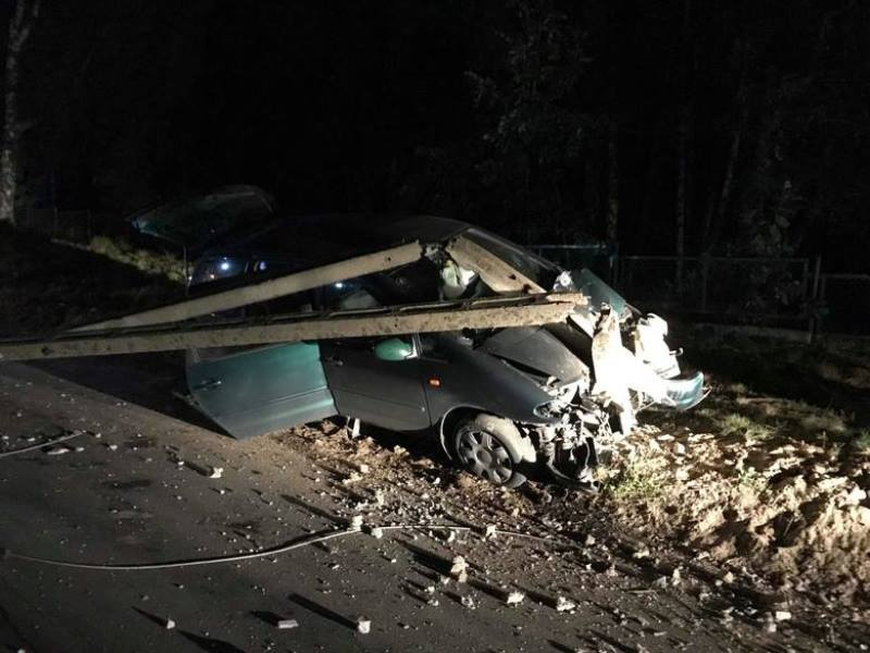 Wypadek drogowy w Łupawsku