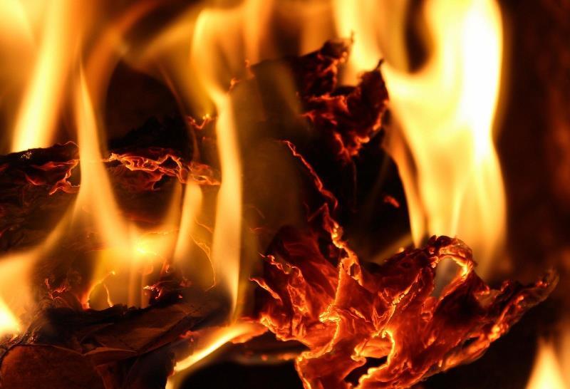 Pożar garażu w Karwnie