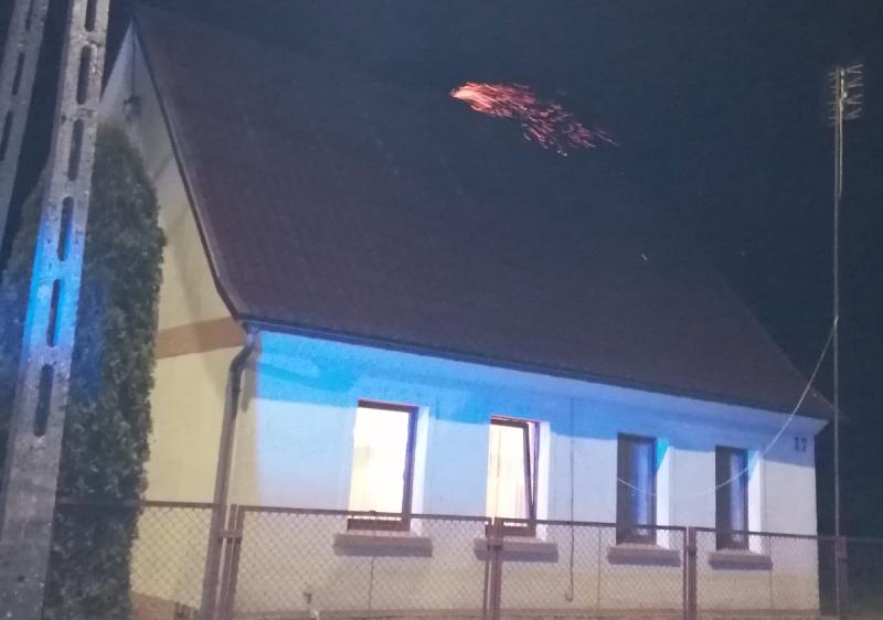 Pożar przewodów kominowych w Czarnej Dąbrówce